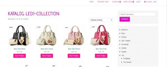Website (toko-online) Grosir Sepatu, Sandal, Tas dan Aksesoris Wanita Ledi-Collection
