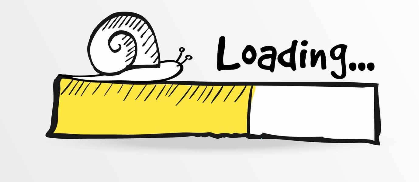 kecepatan website yang lambat
